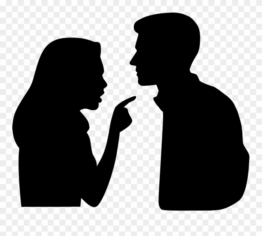 Argument people vs people clipart png free stock Argument Divorce Enabling Family - Wife And Husband Silhouette ... png free stock