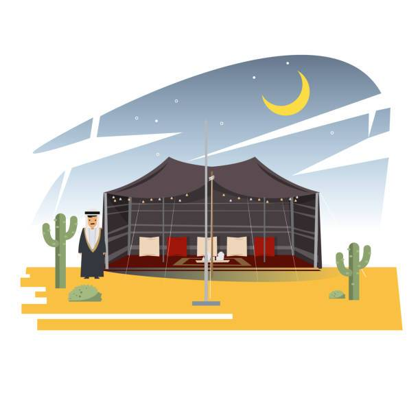 Arianism clipart picture Arian traditional camp tent in desert – vector illustration ... picture