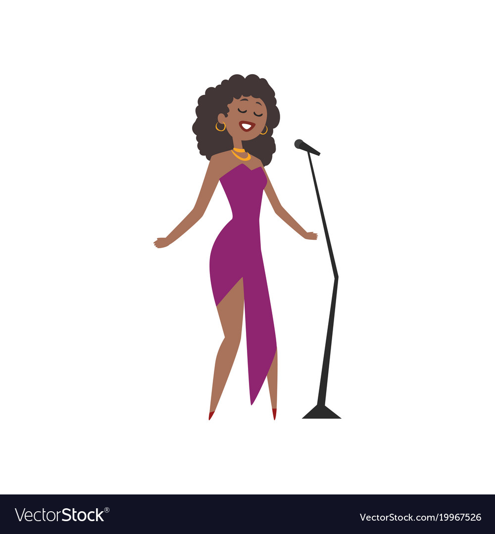 Arican american opera singer clipart graphic download African american jazz singer beautiful woman in graphic download