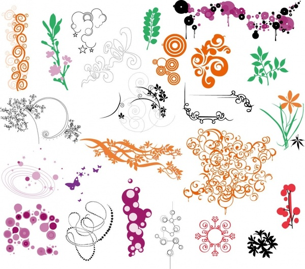 Aridi vector clipart collection free download banner free Ornaments Vector Collection Free vector in Encapsulated PostScript ... banner free
