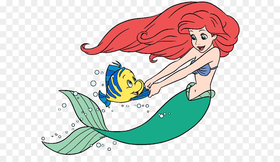 Ariel and flounder clipart picture library library Little Mermaid png download - 647*501 - Free Transparent Mermaid png ... picture library library