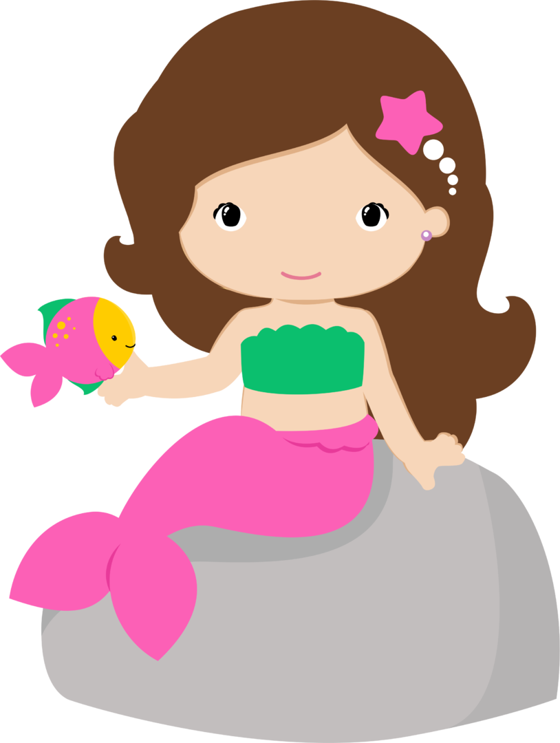 Mermaid clipart with fish library 4shared - View all images at PNG folder | Ariel party | Pinterest ... library