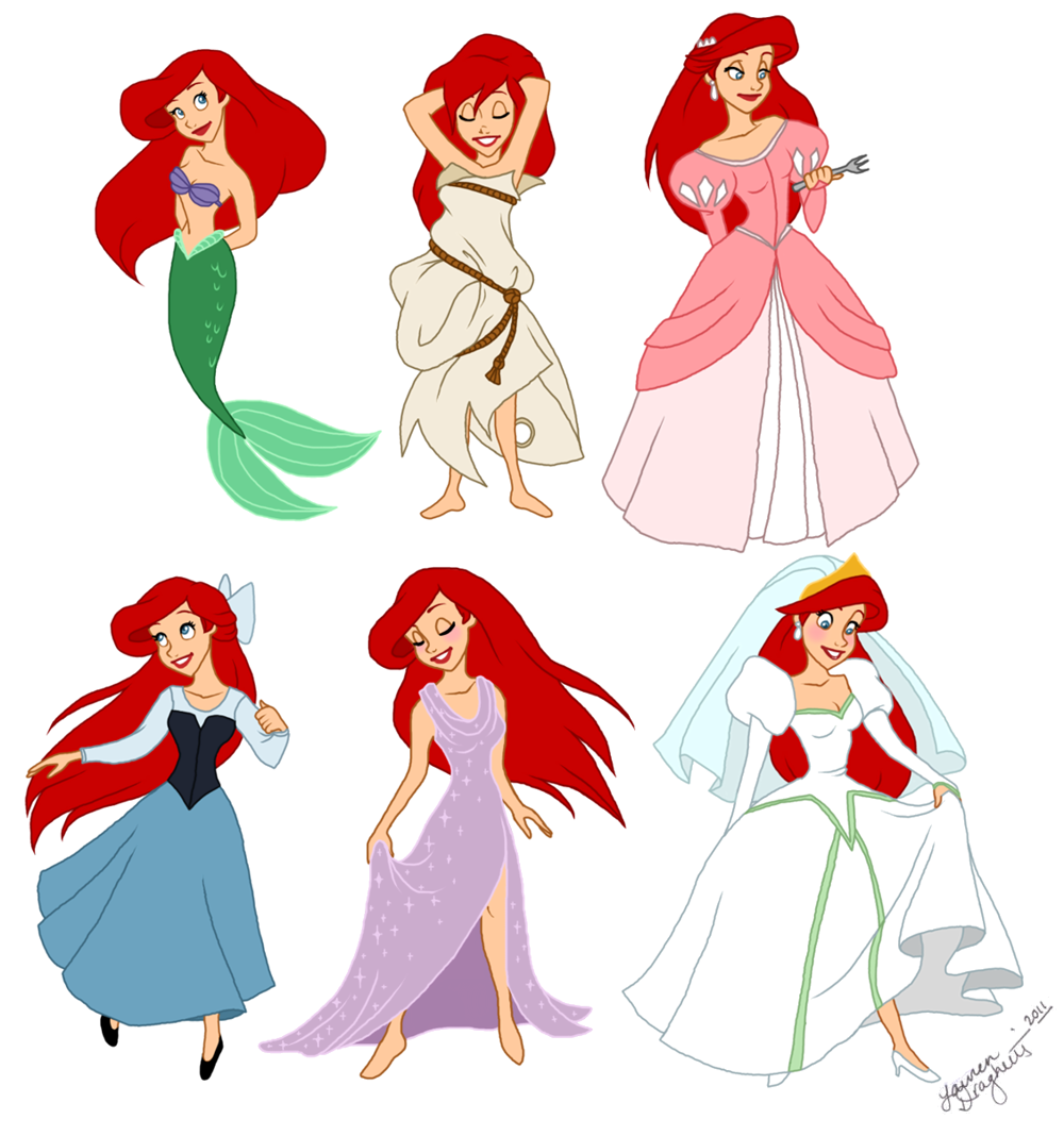 Ariel mermaid with legs clipart graphic royalty free stock Redheaded Disney Character Costumes | Disneybound | Walt disney ... graphic royalty free stock