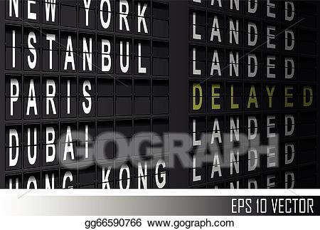Arival departure screen clipart vector transparent download EPS Vector - Airport departure display. Stock Clipart Illustration ... vector transparent download