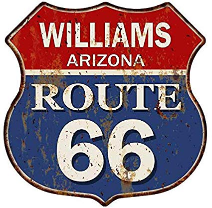 Arizona sign clipart png transparent download Amazon.com: Williams, Arizona Route 66 Shield Metal Sign Man Cave ... png transparent download
