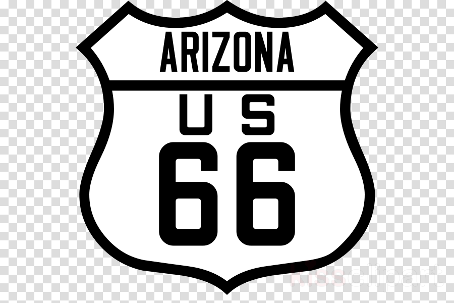 Arizona sign clipart picture free stock Route 66 Logo clipart - Tshirt, Clothing, White, transparent clip art picture free stock
