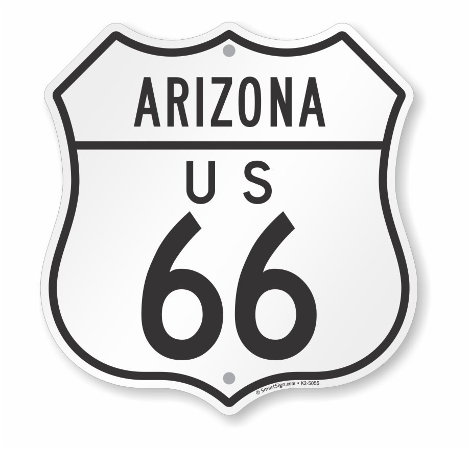 Arizona sign clipart banner free Us 66 Arizona Route Marker Shield Sign - Parking Sign Free PNG ... banner free