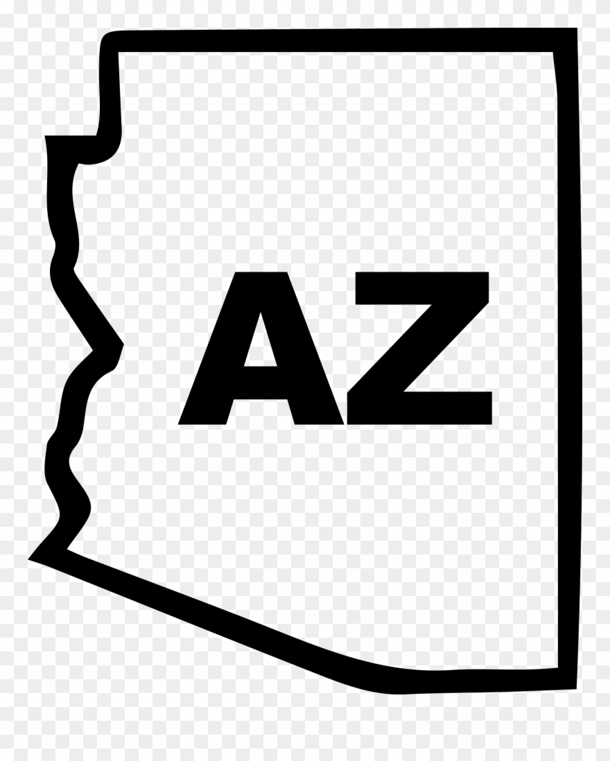 Arizona universiy clipart clip art library Arizona State Outline Decal - Arizona State Black And White Clipart ... clip art library