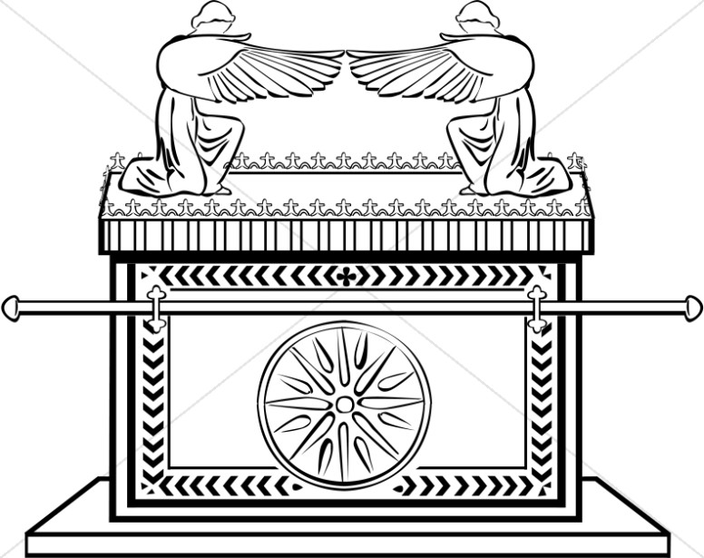 Ark of covenant clipart clipart transparent Ark of the Covenant in Black and White | Old Testament Clipart clipart transparent