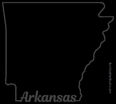 Arkansas outline clipart svg transparent library Arkansas - Map Outline, Printable State, Shape, Stencil, Pattern svg transparent library