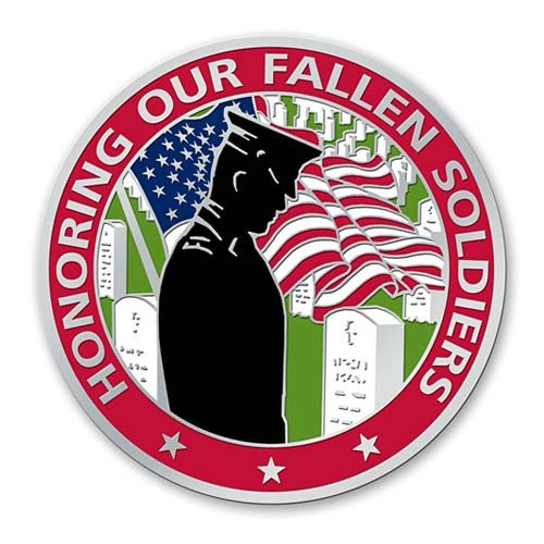 Arlington national cemetery clipart svg black and white Arlington National Cemetery Fallen Soldier Pin svg black and white