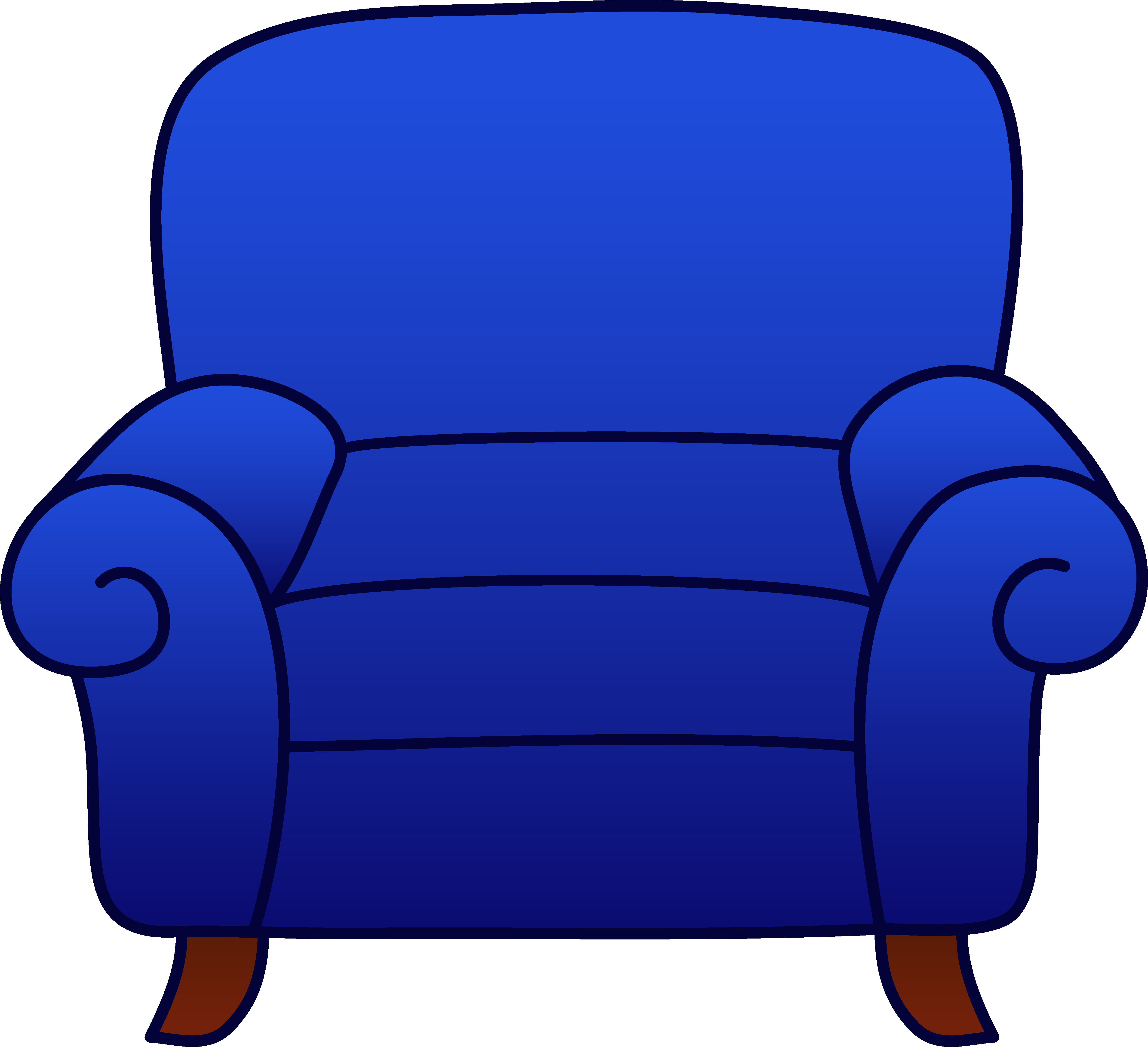 Blue chair clipart clipart royalty free download Blue Armchair Clipart - Free Clip Art clipart royalty free download