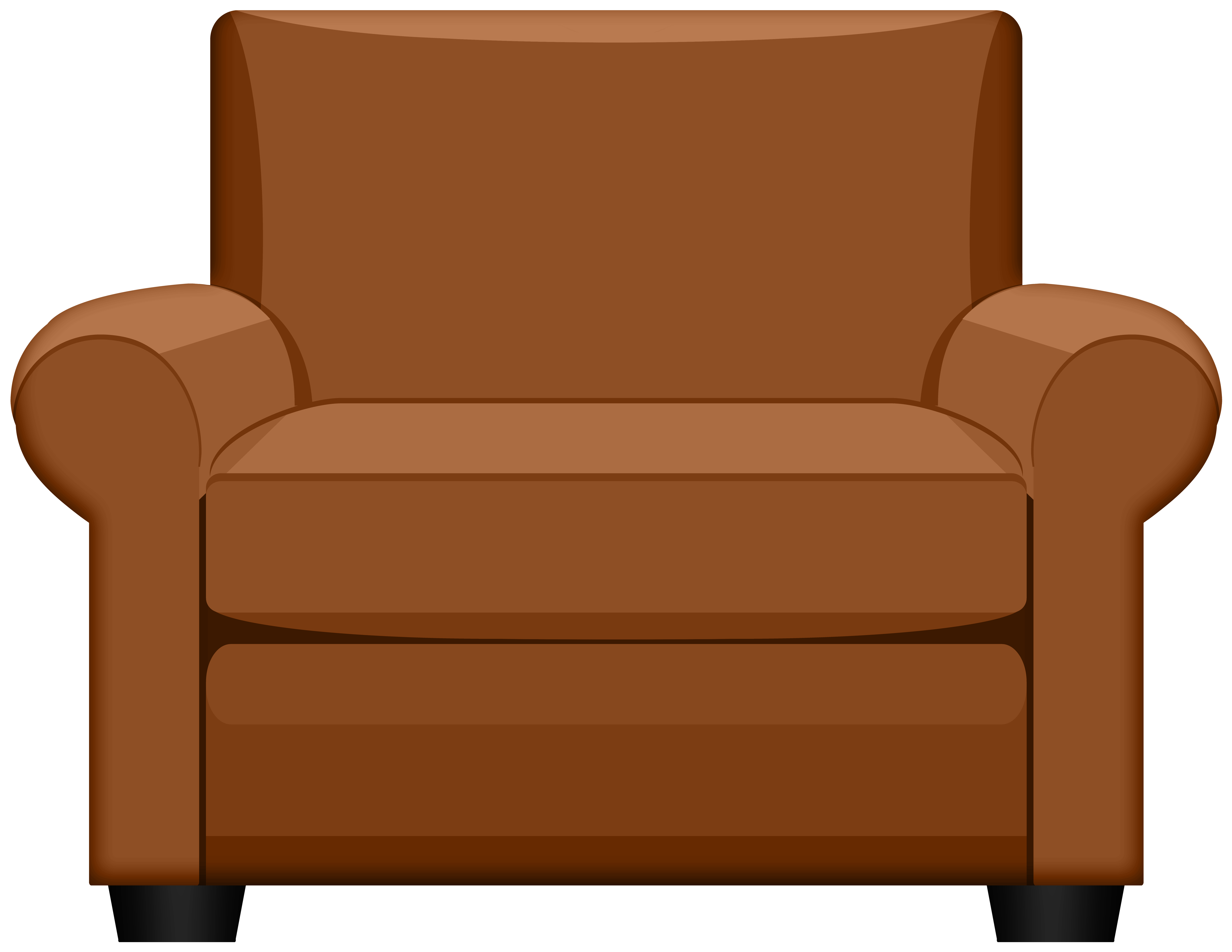 Arm chair clipart free library Brown Armchair PNG Clipart | Gallery Yopriceville - High-Quality ... free library