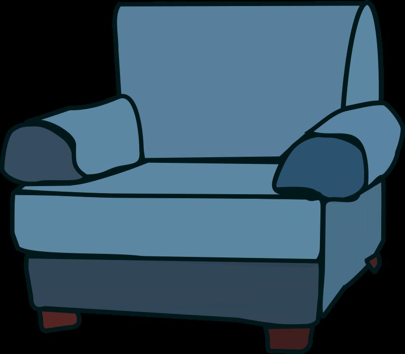 Arm chair clipart graphic transparent stock Free clip art \
