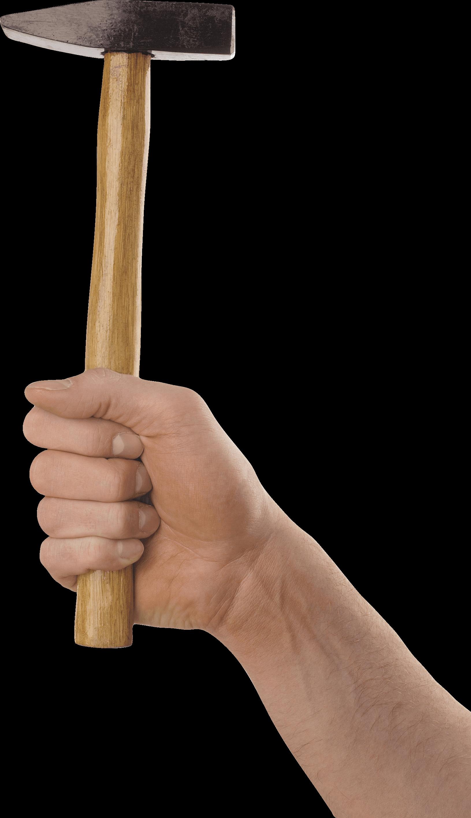 Arm holding hammer clipart banner transparent library Hand Holding Long Hammer transparent PNG - StickPNG banner transparent library