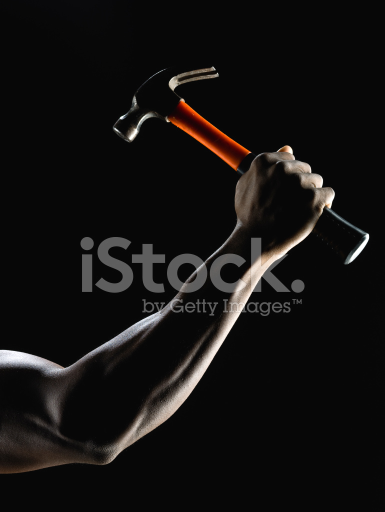 Arm holding hammer clipart png freeuse Muscle Arm Holding A Hammer Stock Photos - FreeImages.com png freeuse