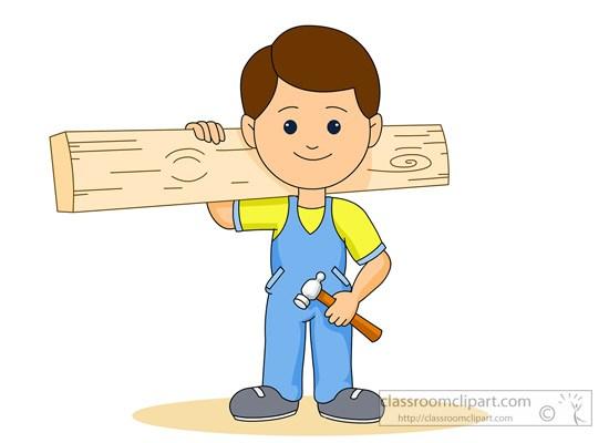 Arm holding hammer clipart jpg royalty free stock Carpenter holding wood plank hammer » Clipart Portal jpg royalty free stock