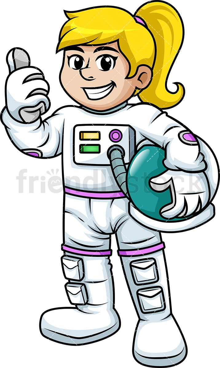 Arm holding up clipart picture freeuse Female Astronaut Giving The Thumbs Up | Clip Arts | Vector clipart ... picture freeuse