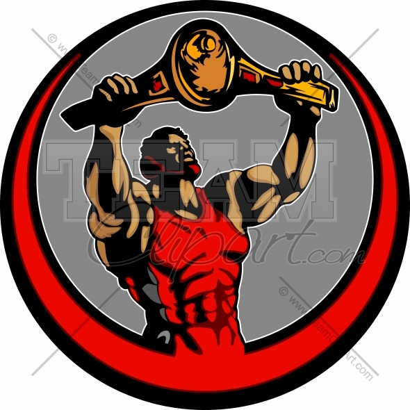 Arm holding up clipart banner freeuse stock Wrestler Holding up Victory Belt Clipart Image - Team Clipart banner freeuse stock