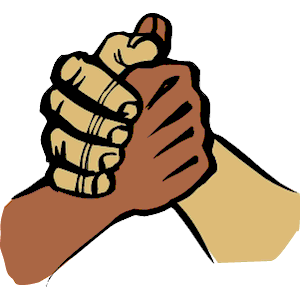 Arms together clipart