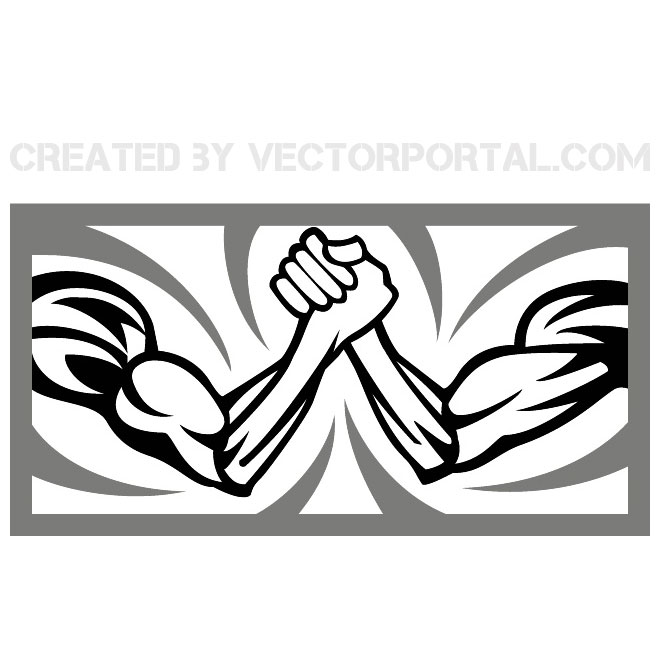 Arm wrestling clipart free royalty free stock ARM WRESTLING VECTOR ILLUSTRATION - Free vector image in AI and EPS ... royalty free stock