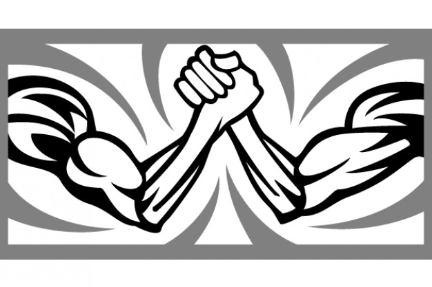 Arm wrestling logo clipart image library Arm wrestling vector Vector | Free Download image library