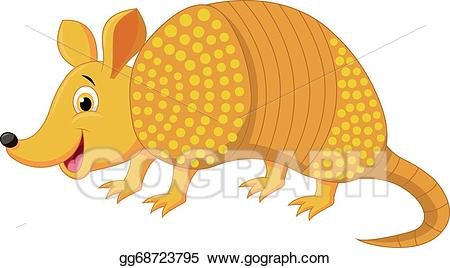 Armadillo clipart clip art free Vector Clipart - Cute armadillo cartoon . Vector Illustration ... clip art free