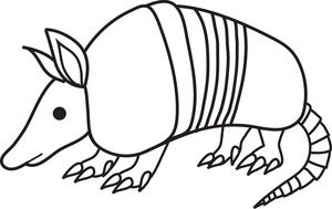 Armadillo clipart clip library download Free Armadillo Clip Art Image: black and white cartoon clip art of ... clip library download