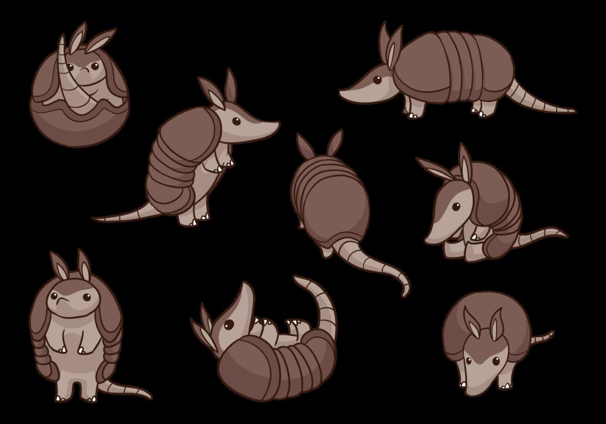 Armadillo vector clipart svg library Armadillo Cartoon Vectors - Free Vectors and Clip Art, Free Icons svg library
