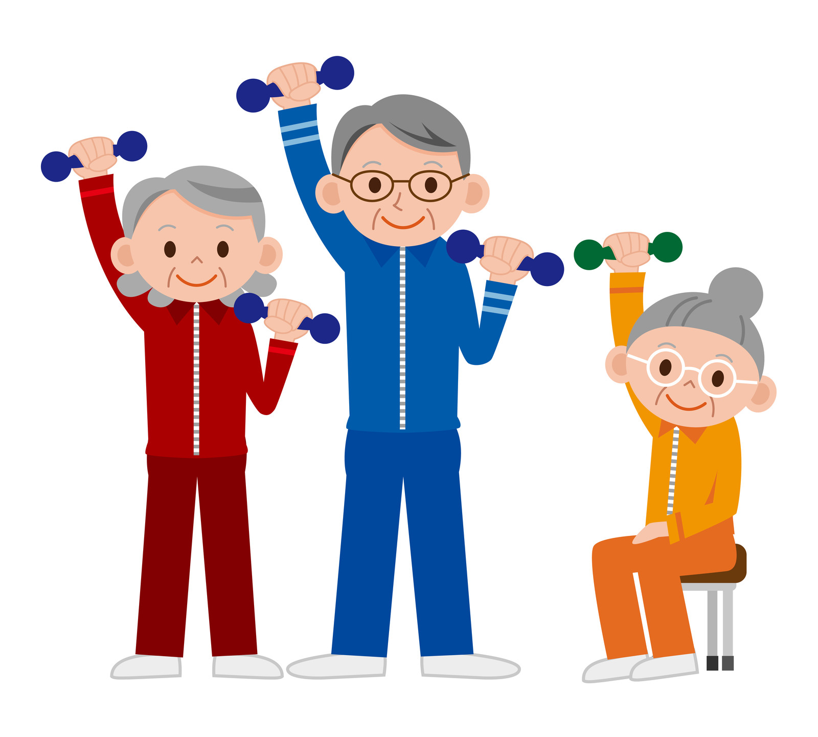 Exercise images download best. Free elderly clipart