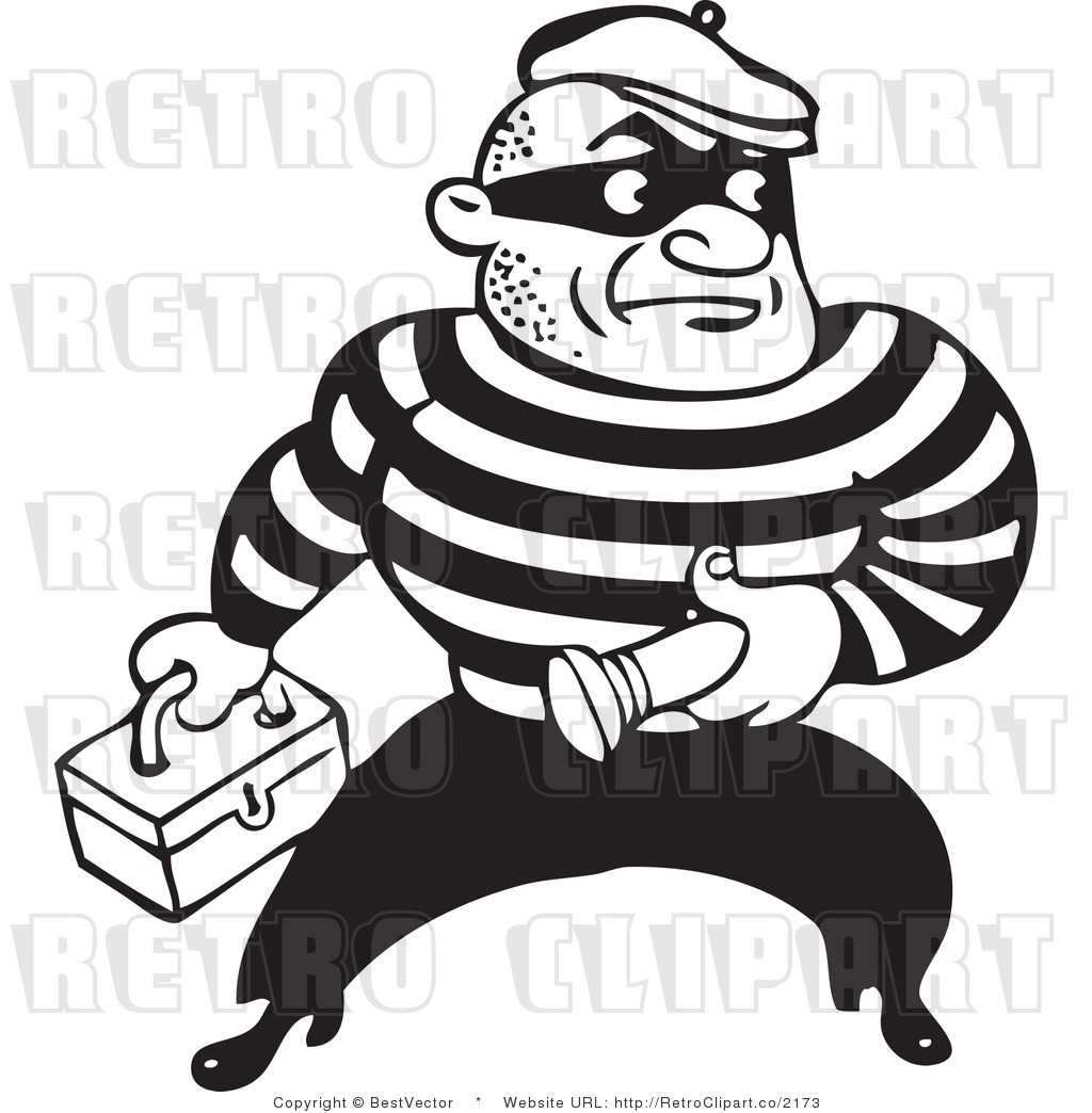 Armed robber background clipart clip art free download Robber clipart black and white - ClipartFest clip art free download