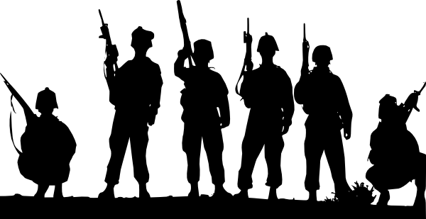Armed services clipart graphic black and white library armed-forces-silhouette-clip-art-at-clker-com-vector-clip-art-online ... graphic black and white library