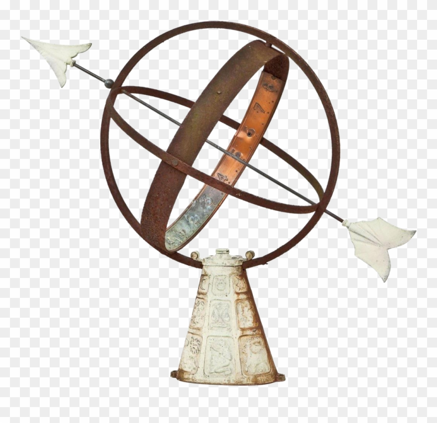 Vintage sundial clipart image freeuse stock Vintage Sundial Sphere With - Armillary Sphere No Background Clipart ... image freeuse stock