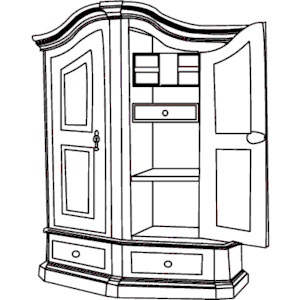 Armoire clipart black and white svg black and white library Cupboard Clipart | Free download best Cupboard Clipart on ClipArtMag.com svg black and white library