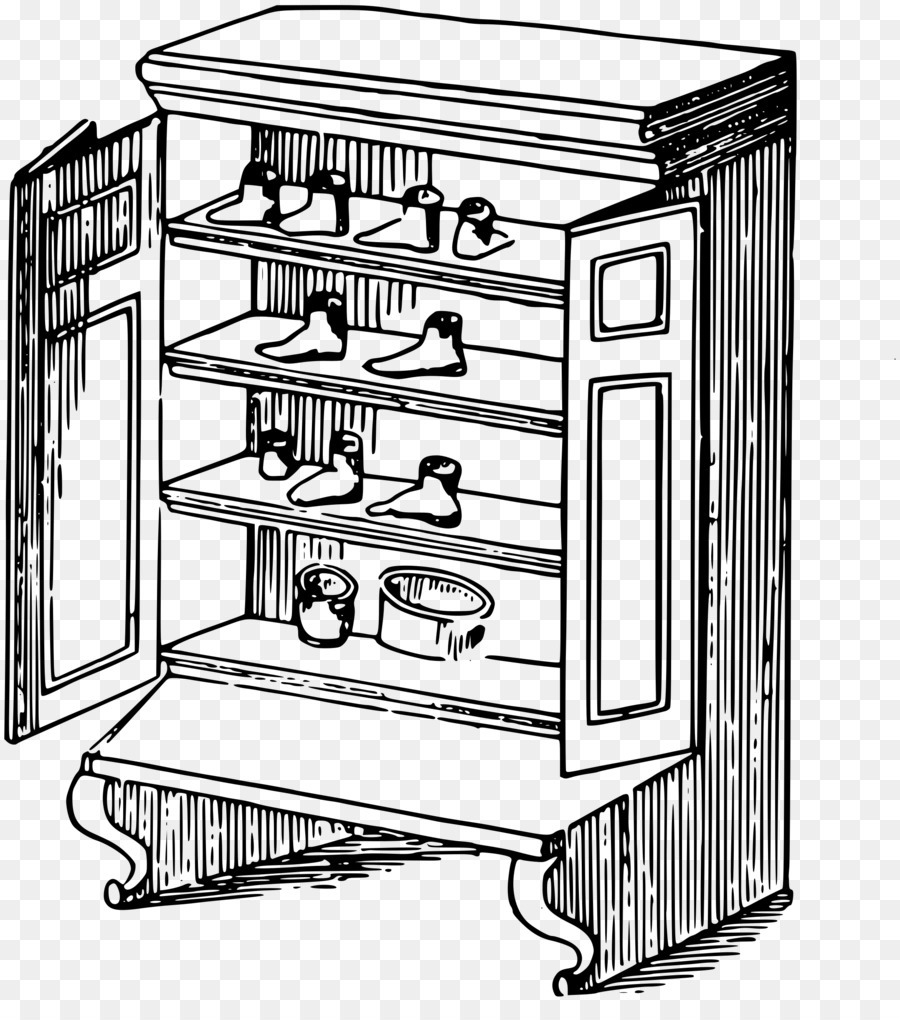 Armoire clipart black and white image free stock Kitchen Cartoon png download - 2155*2400 - Free Transparent Closet ... image free stock