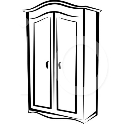 Armoire clipart black and white image royalty free stock Furniture Clipart Black And White - The Interior Designs image royalty free stock