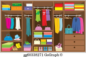 Armoire with clothing clipart png stock Wardrobe Clip Art - Royalty Free - GoGraph png stock