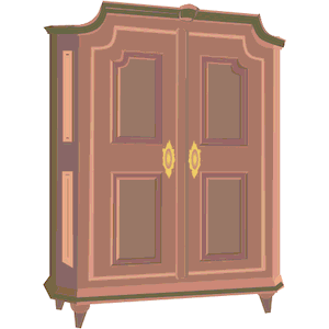 Armoire with clothing clipart picture free library Armoire Cliparts - Cliparts Zone picture free library