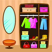 Armoire with clothing clipart banner freeuse download Wardrobe Clipart & Free Clip Art Images #17738 - Clipartimage.com banner freeuse download