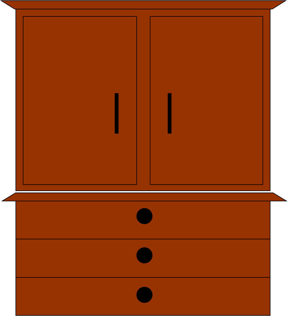 Armoire with clothing clipart png black and white library Wardrobe Cliparts - Cliparts Zone png black and white library