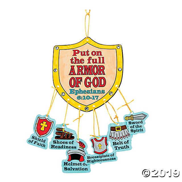 """Color Your Own """"Armor of God"""" Mobile Craft Kit - Discontinued graphic free"""