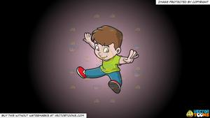 Arms and legs spread out clipart clipart library library Clipart: A Boy Doing Oops Upside Your Head on a Pink And Black Gradient  Background clipart library library