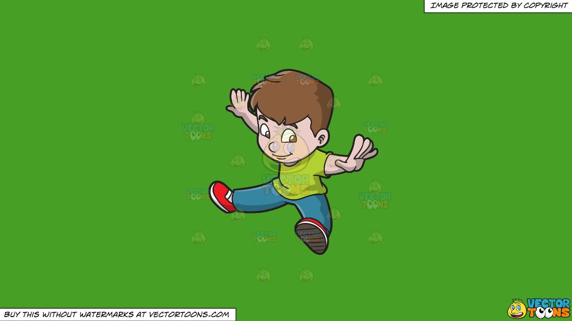 Arms and legs spread out clipart image library library Clipart: A Boy Doing Oops Upside Your Head on a Solid Kelly Green 47A025  Background image library library
