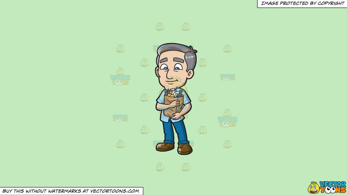Arms hugging grocery sack clipart picture transparent download Clipart: A Mature Man Hugging A Grocery Bag on a Solid Tea Green C2Eabd  Background picture transparent download