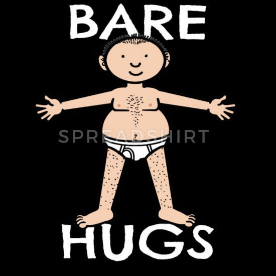 Arms hugging grocery sack clipart clipart freeuse download BEAR HUGS Funny Adult BARE Hug Design Tote Bag | Spreadshirt clipart freeuse download