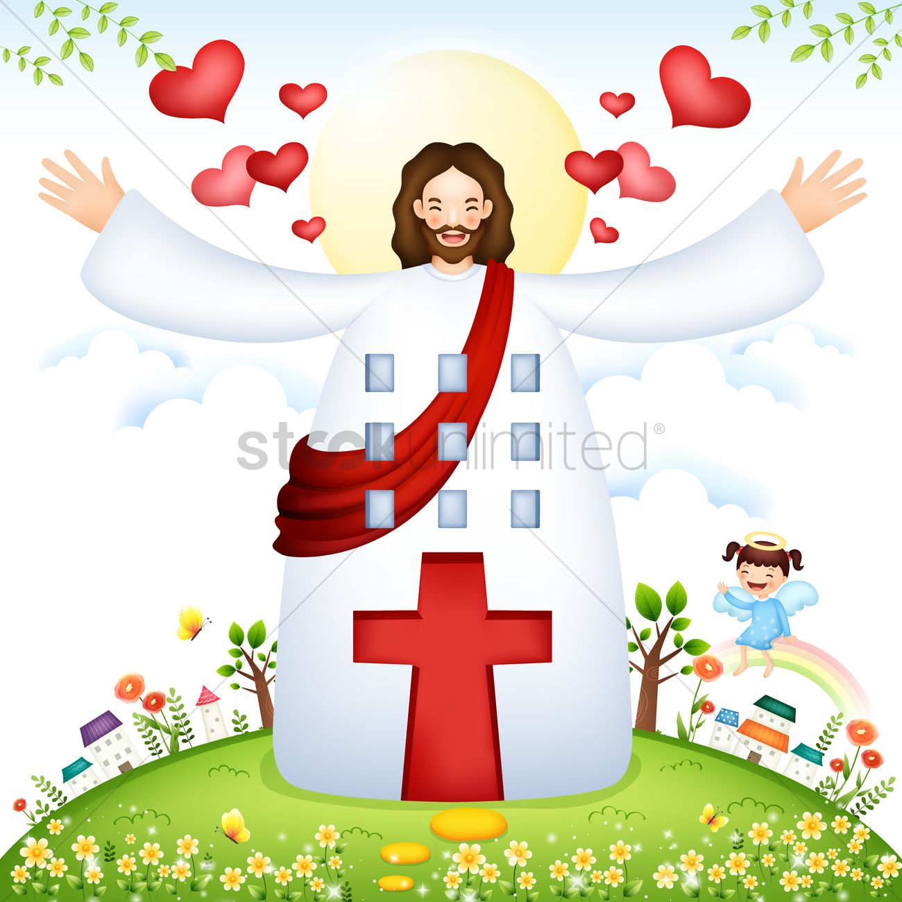 Arms open clipart vector Jesus With Arms Wide Open Vector Image - 1 #116969 - Clipartimage.com vector