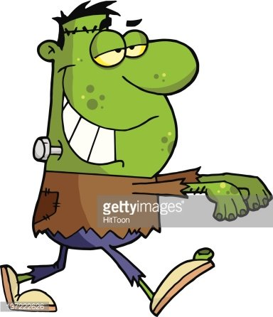 Arms walking clipart clip royalty free Walking Green Frankenstein With His Arms Out premium clipart ... clip royalty free