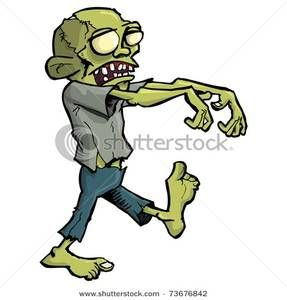 Arms walking clipart graphic free Clip Art Image: A Stiff Zombie Walking with His Arms Out | halloween ... graphic free