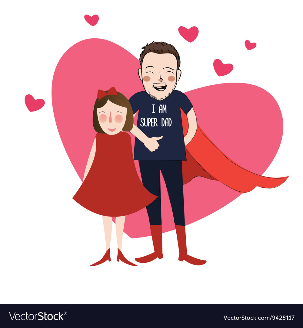 Army and daughter cartroon clipart jpg transparent download I am super dad cartoon girl daughter jpg transparent download
