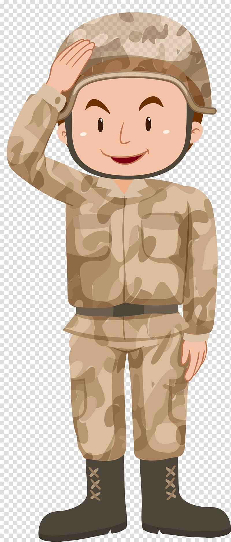 Army boy and girl clipart clip black and white download Soldier Illustration, Yellow cartoon soldier transparent background ... clip black and white download